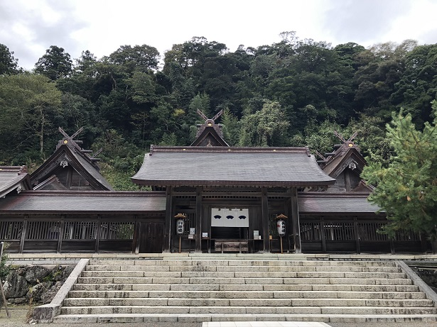 佐太神社 大社造りの社殿