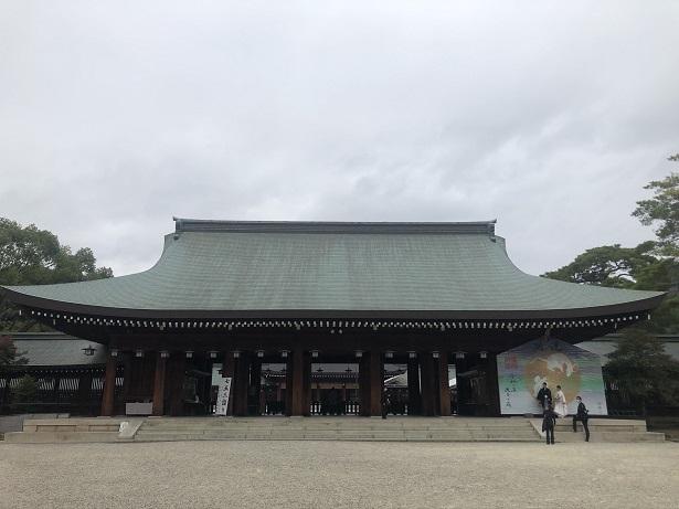 橿原神宮本殿・内拝殿・外拝殿の迫力